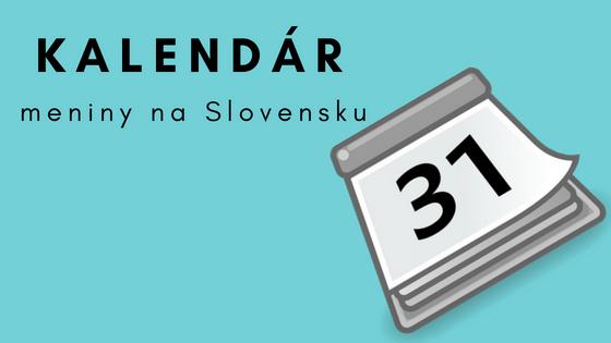 Kalendár – meniny na Slovensku  adcd9c8b1ee
