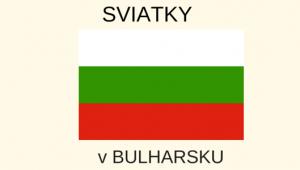 Sviatky v Bulharsku