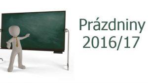 Termíny školských prázdnin na školský rok 2016/2017